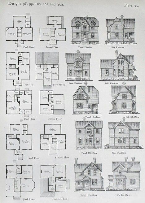 Small Footprint Historic Floor Plans Vintage House Plans House Plans Farmhouse Floor Plans