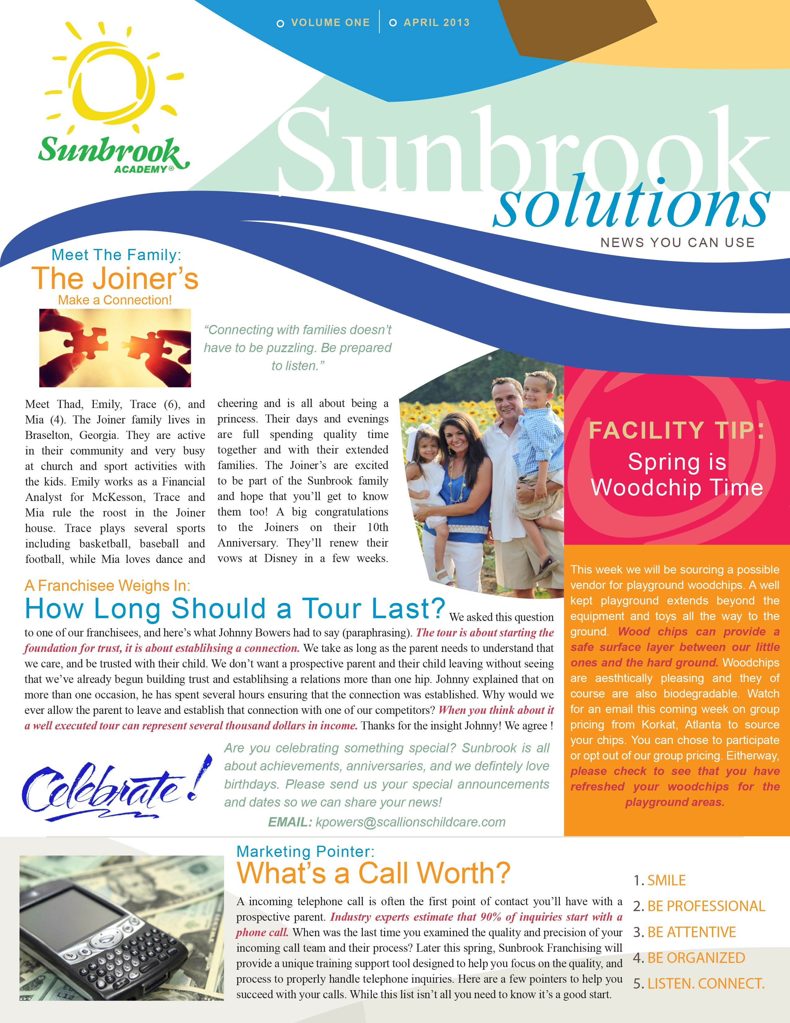 A newsletter template designed for Sunbrook Academy Created using – Indesign Newsletter