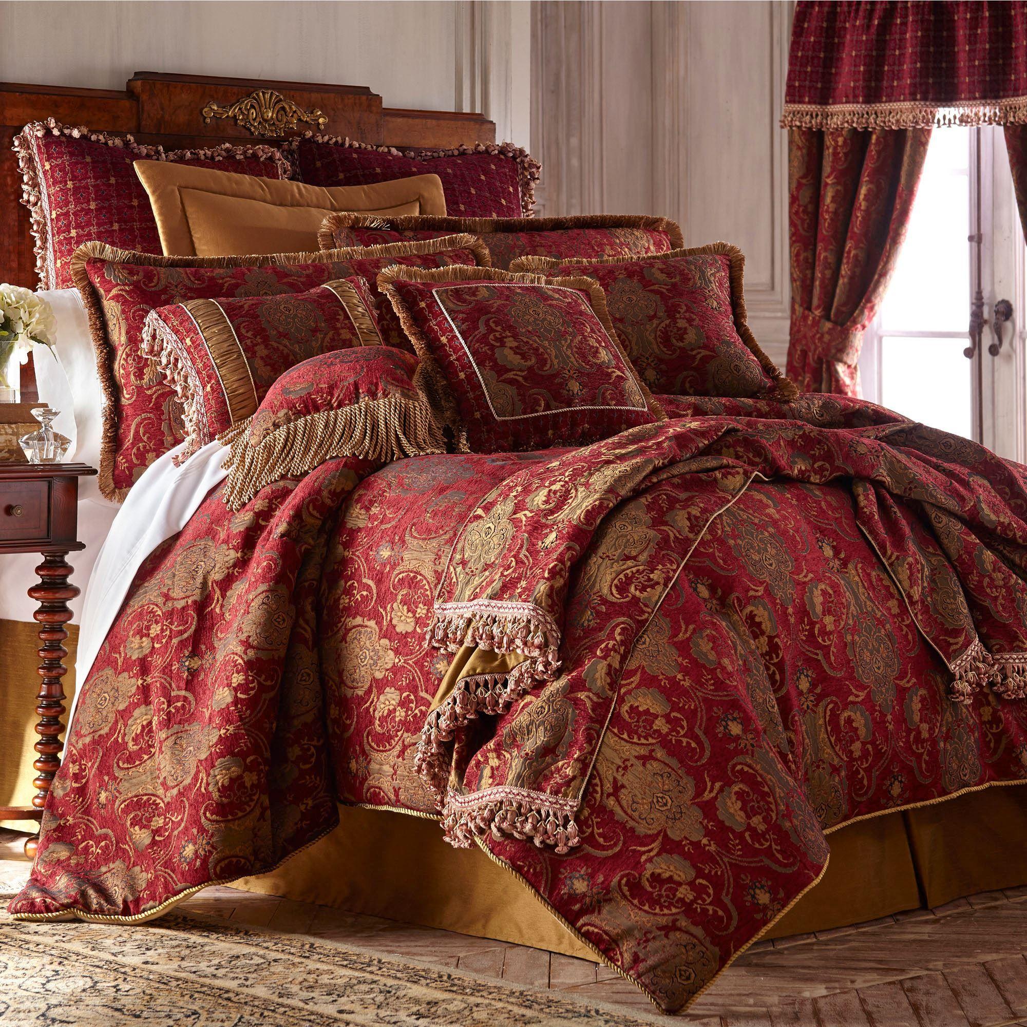 China Art Ruby Red Asian Inspired Comforter Bedding Comforter