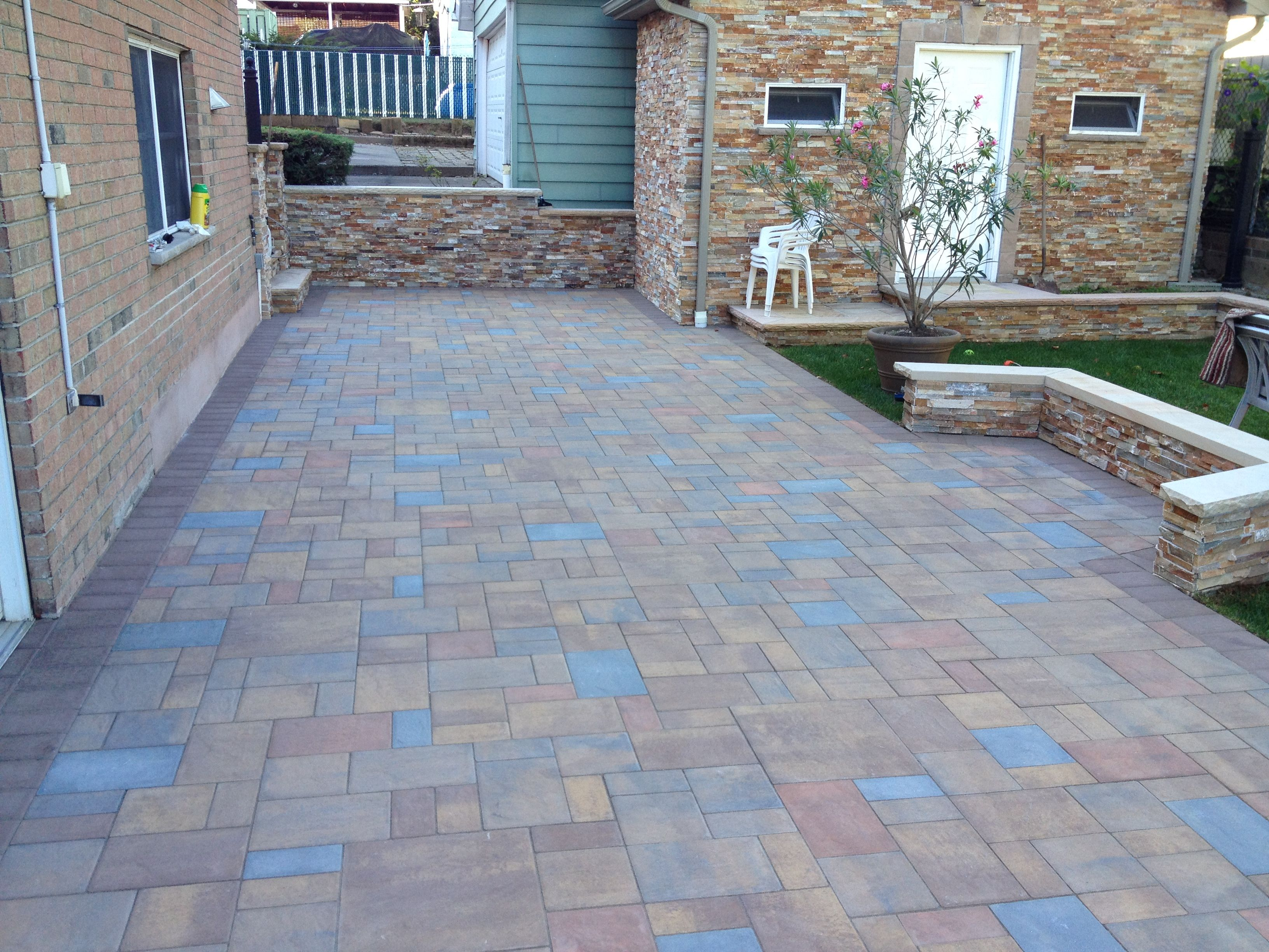 Cambridge pavingstones wall systems color options - 3d Cambridge Ledgestone Paver Patio Installed By Stone Creations Of Long Island Pavers And Masonry Corporation