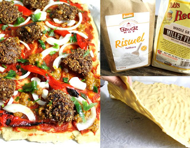 Glutenfri pizzabunn av hirse- og rismel