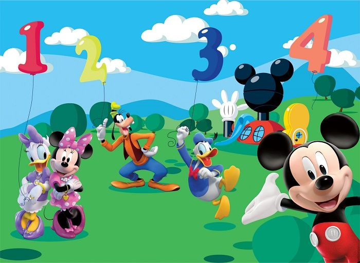 Giant Size Wallpaper Mural For Girlu0027s And Boyu0027s Room. Disney Mickey Mouse  Club House Wall Amazing Pictures