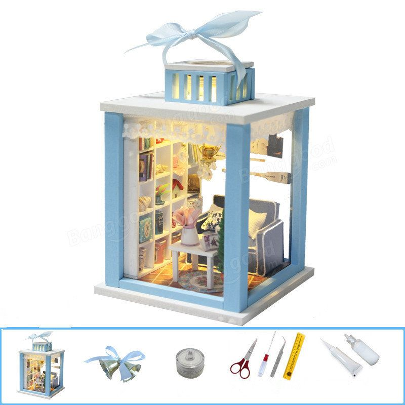Hoomeda Wind Chimes DIY Wood Dollhouse Miniature With LED Furniture Mini Doll  House Room Sale   Banggood Mobile
