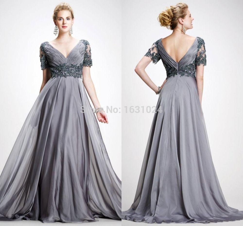 heißer verkauf plus size prom kleider sexy v-ausschnitt a- linie ...