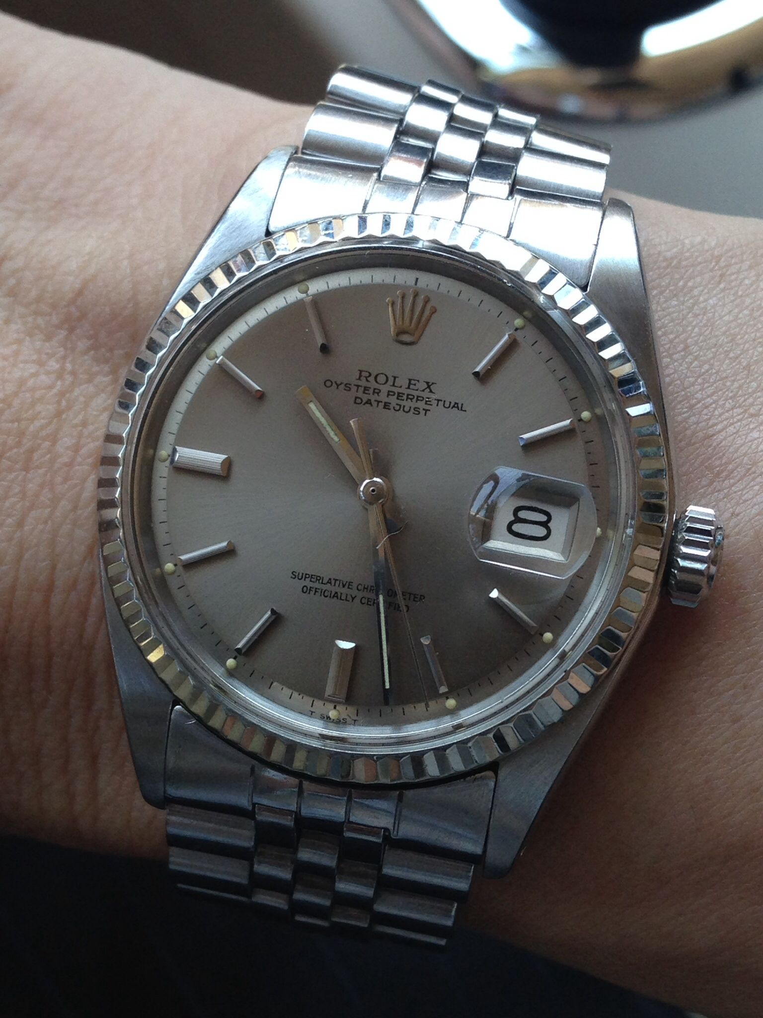 3518b27c558 Datejust 1601 with light grey pie-pan dial Rolex Watches