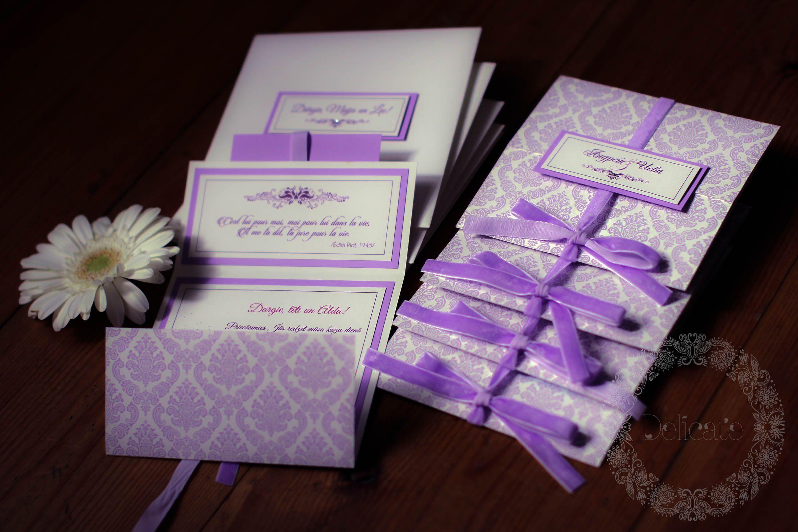 Delicate wedding invitations www.delicate.lv