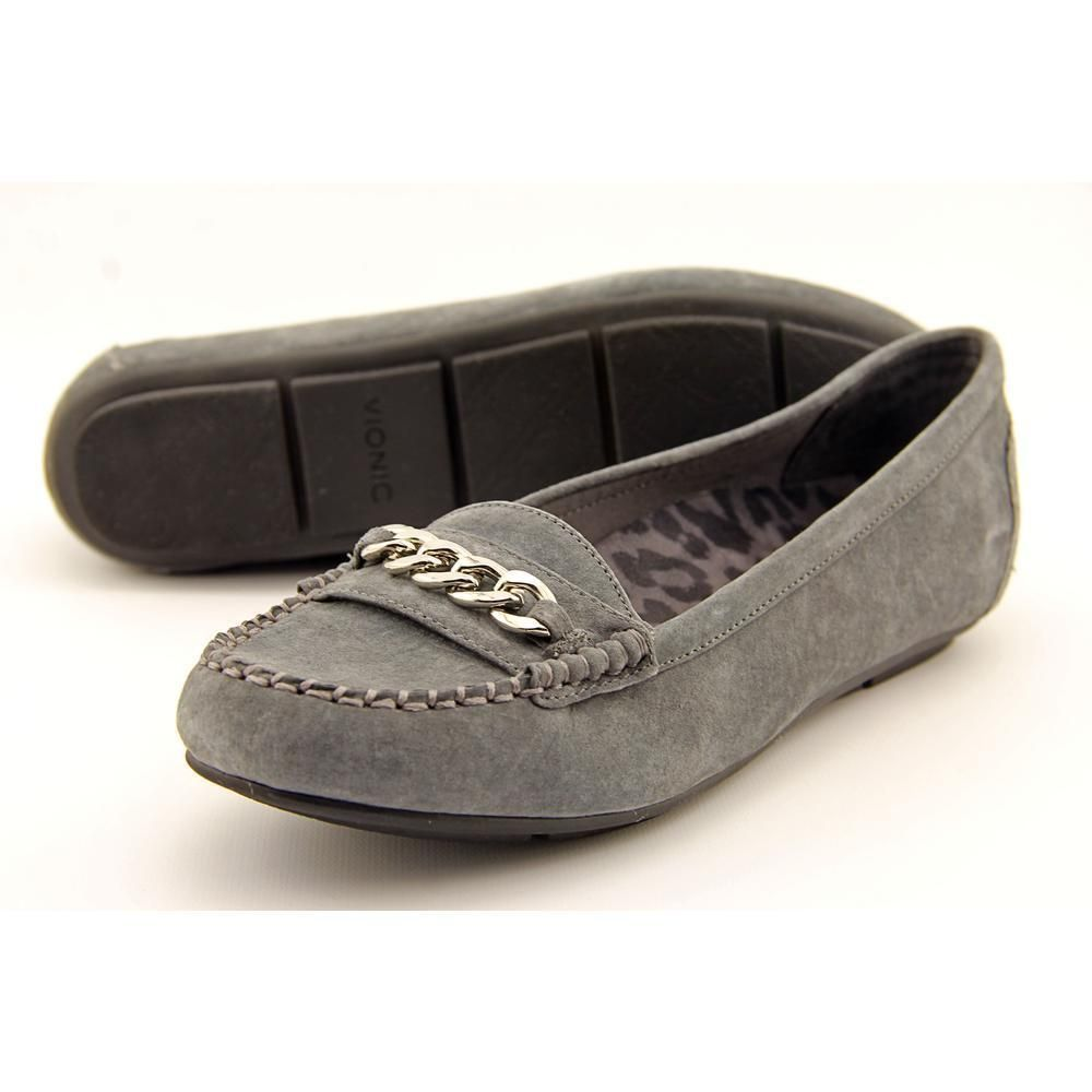 273ad823356 Vionic Chill Mesa Women US 7.5 Gray Loafer Pre Owned 1684  Vionic   LoafersMoccasins