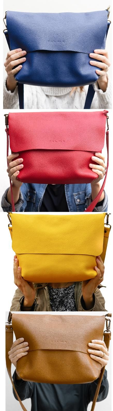 Leather crossbody bag available in 16 colors Very soft handmade yellow leather shoulder bag 100 handmade with the highest quality fullgrain Spanish leather The full grain...