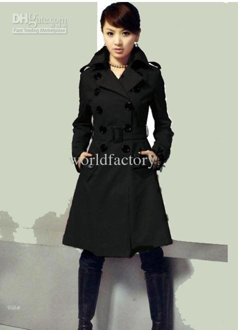 61fd267ddc 2019 Slim Elegant Double Breasted Wool Winter Coat Women'S Wool Coat ...