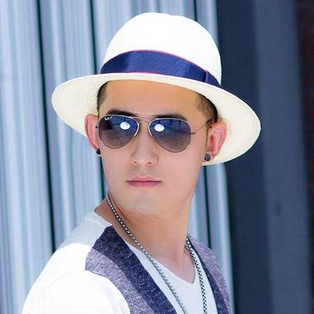 a937fd89d9b Summer white straw panama hat for men UV beach sun hats