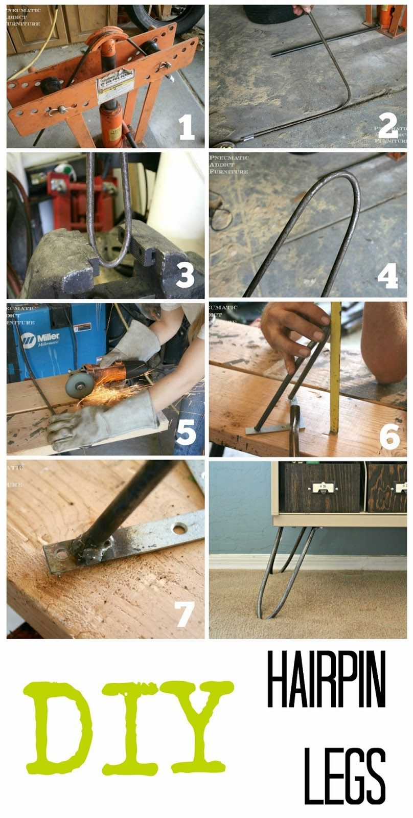 DIY Hairpin Legs Diy, Crate furniture, Diy table