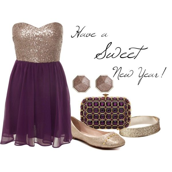 Purple & gold to ring in the New Year!