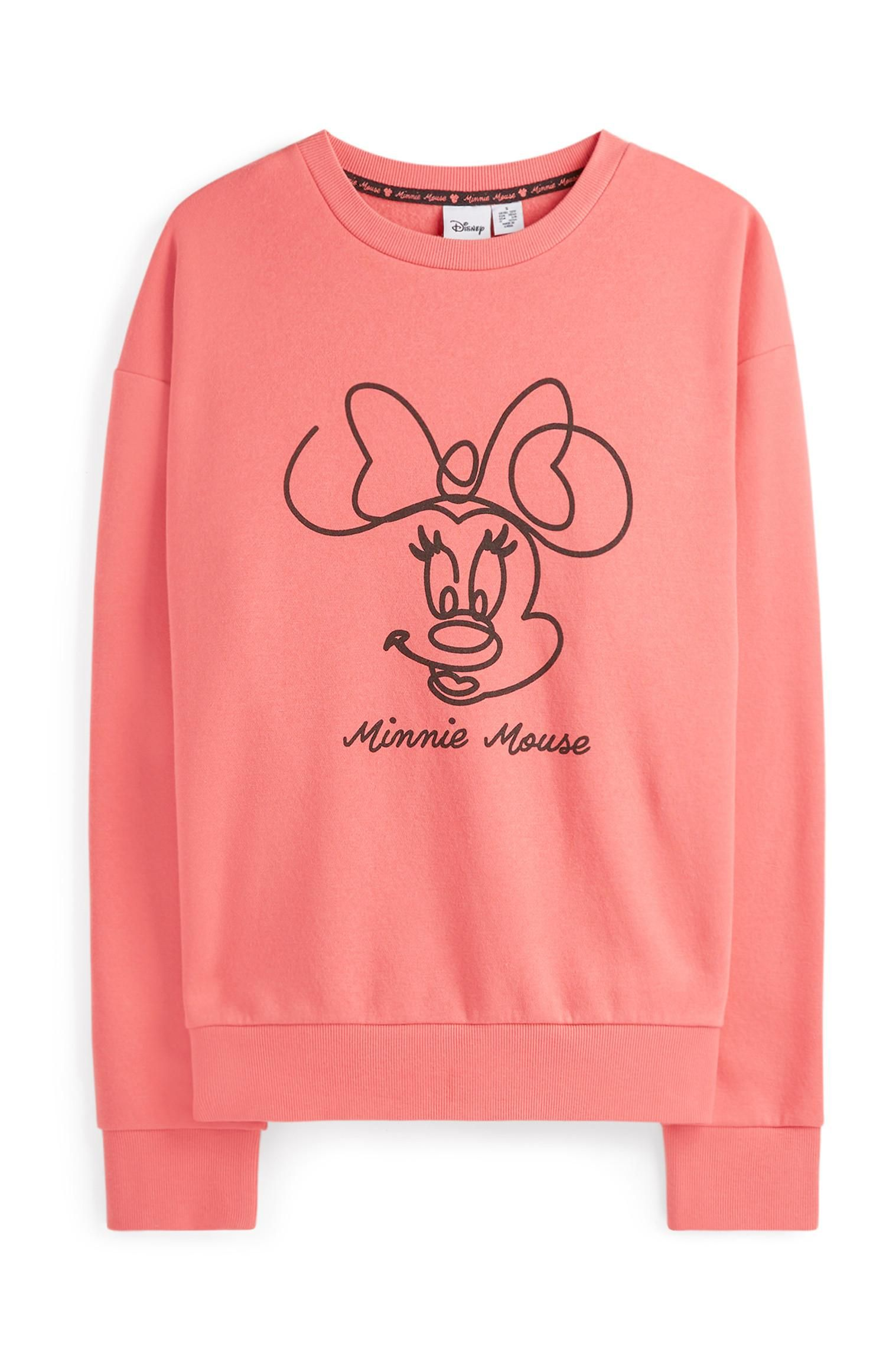 Pink Disney Filles Minnie Mouse Sweat-Shirt//Chandail//Sweat