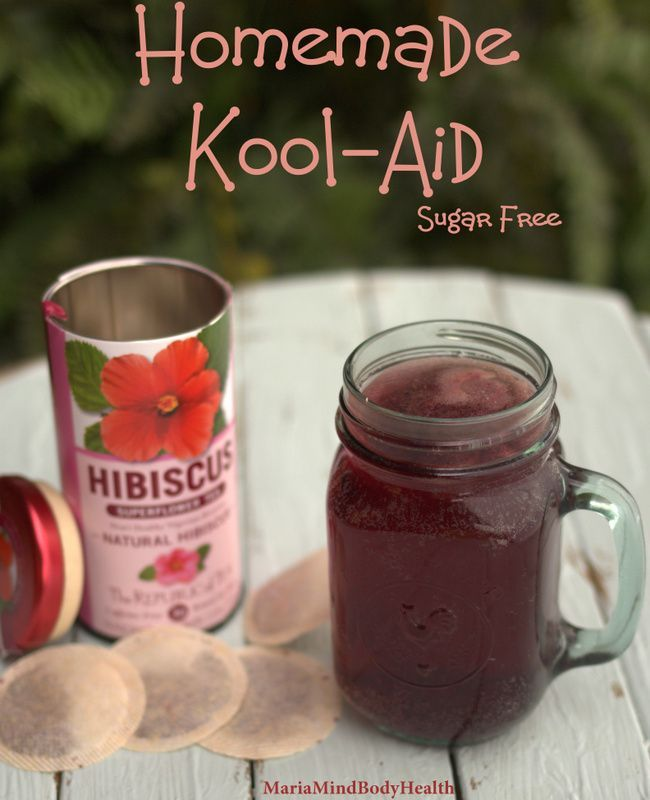 Cool and Refreshing Homemade Kool-Aid. You don't need artificial dyes or sugar to make this yummy drink both kids and adults will enjoy.