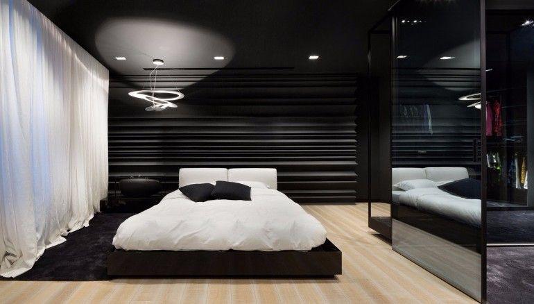 Sleek and Modern Black and White Bedroom Ideas Black white