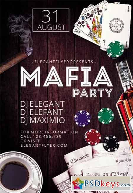 Mafia Party Flyer Psd Template  Facebook Cover  Ads