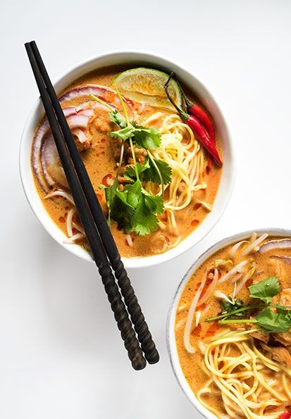 Photo and recipe by Hapa Nom  INGREDIENTS     * 1 stalk lemongrass, tough outer layer removed, bulb thinly sliced     * 2 - 3 red Thai chilies, seeded     * 2 shallots, halved     * 8 garlic cloves     * 1 2-inch piece of ginger, peeled and sliced     * ¼ cup cilantro, stems only     * 1 ta