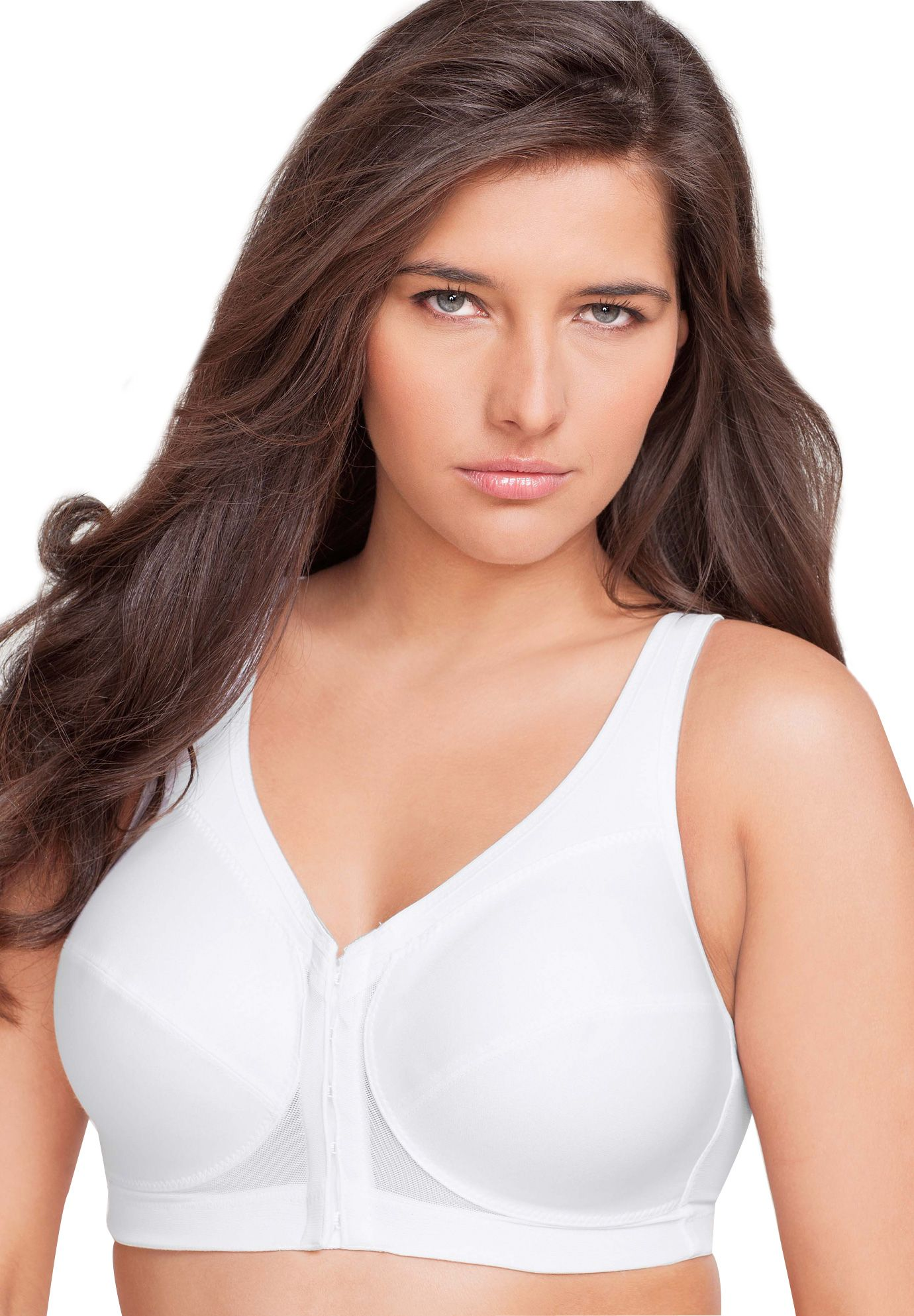 7f3d38748 Too big back band would need shortening tightening Magic Lift Plus® Front  Hook Posture Bra by Glamorise®