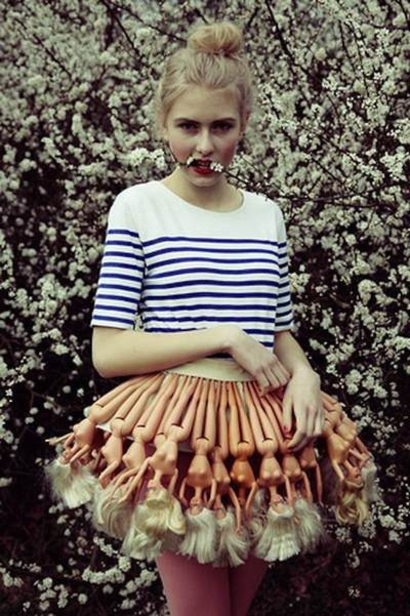 Uncategorized Barbie Skirt girl wears skirt made of barbie dolls girls wear doll dolls
