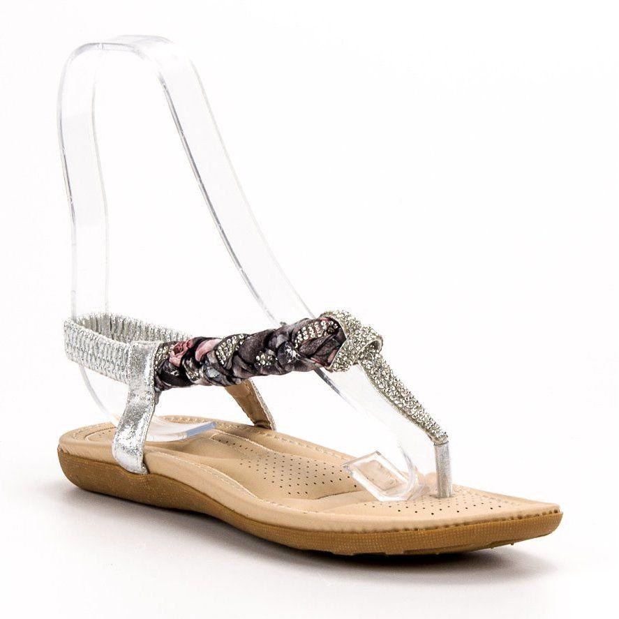 Cm Paris Modne Sandały Japonki szare | Sandały, Japonki i