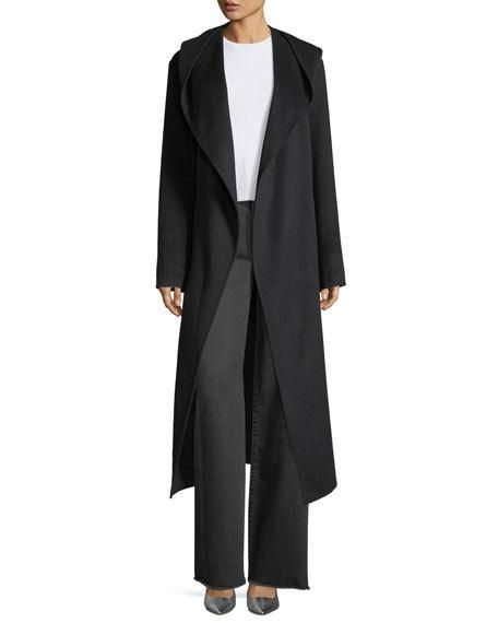 Long Hooded Suede Coat   Suede coat b4c7d7f1fb54