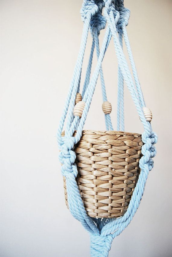 how to make a macrame plant hanger with beads