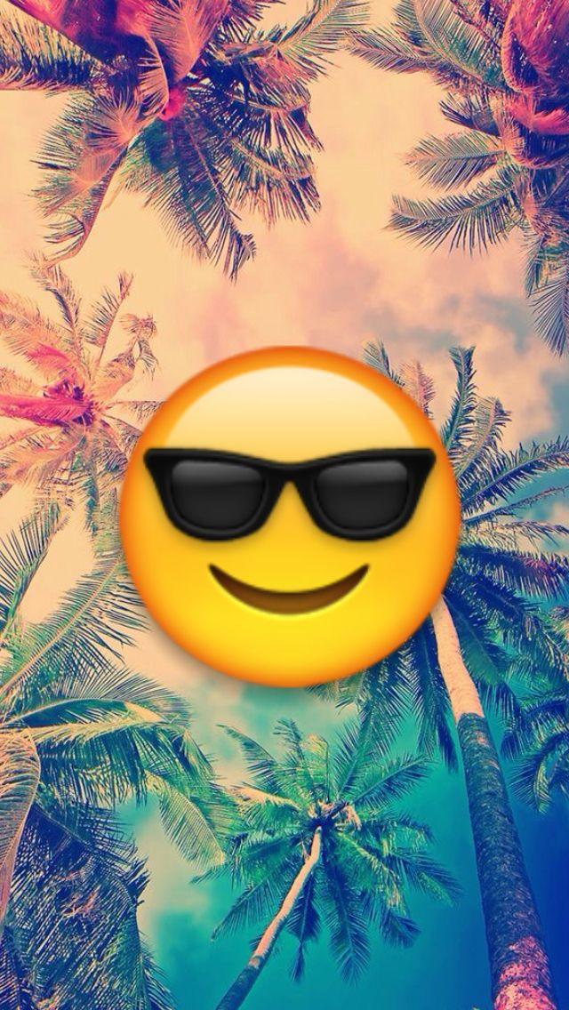 Emoji Veraneando Relax Nuestro Amigo Emoji Esta Relajado Debido Al Verano Quieres Relajarte Al Igual Cute Emoji Wallpaper Cute Emoji Emoji Wallpaper