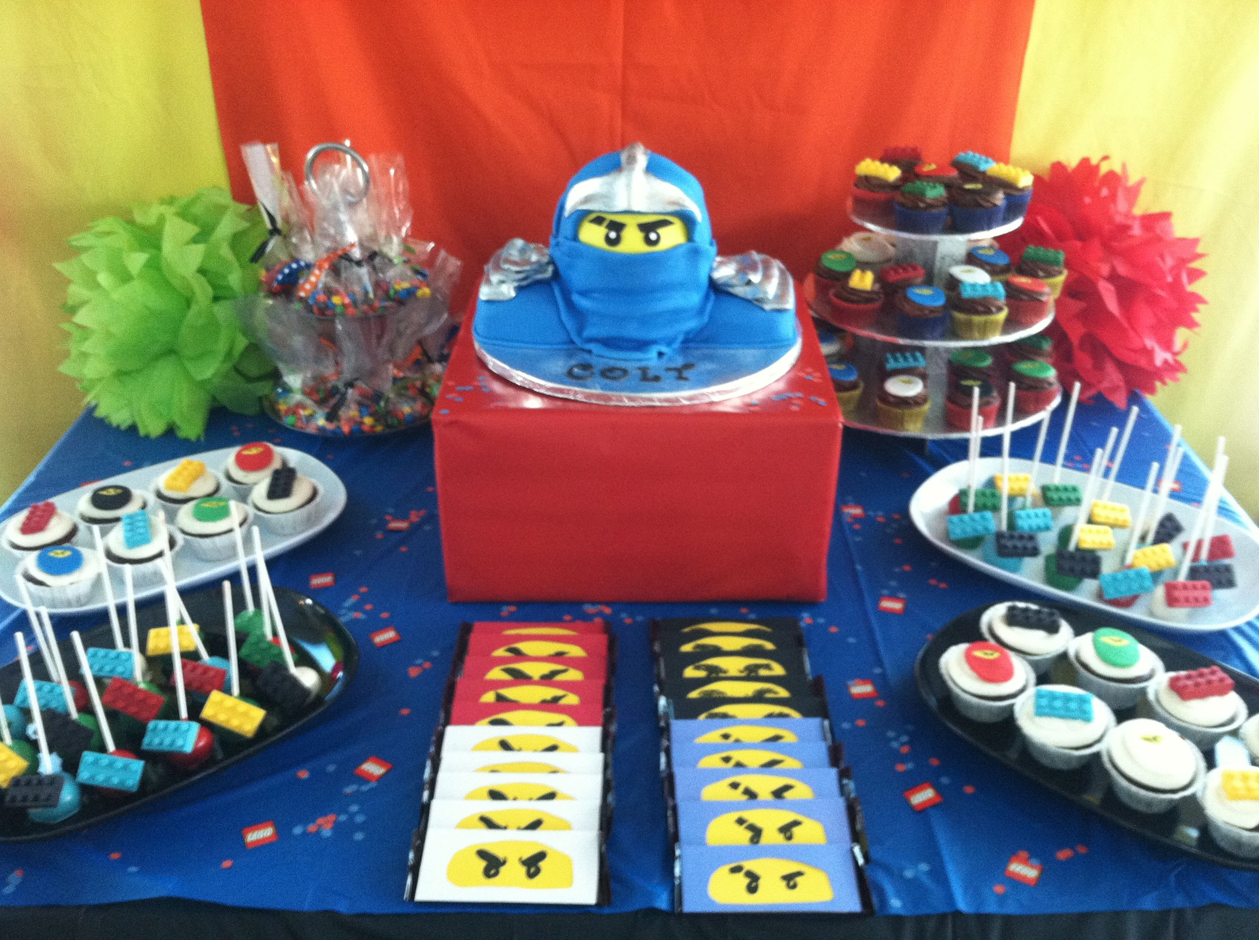 Lego Ninjago Party table. Ninjago birthday, Lego ninjago