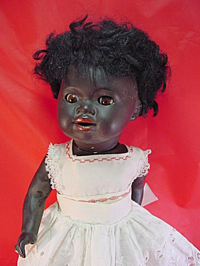 1930 S Rare 18in Black Pot Doll Exc Click On The Image For More Information The Old Curiosity Shop Antiques Black Doll