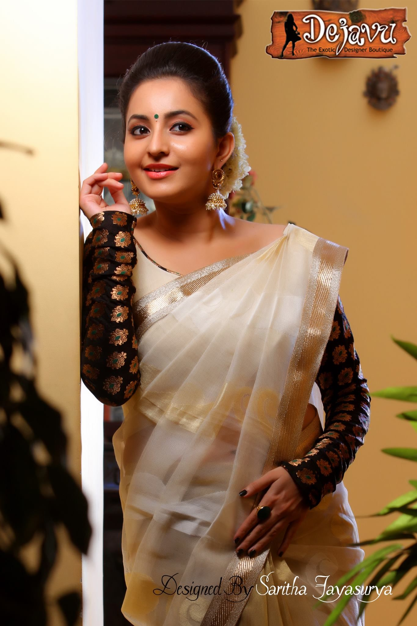 beautiful bhama hot photo in set saree check more at http://www
