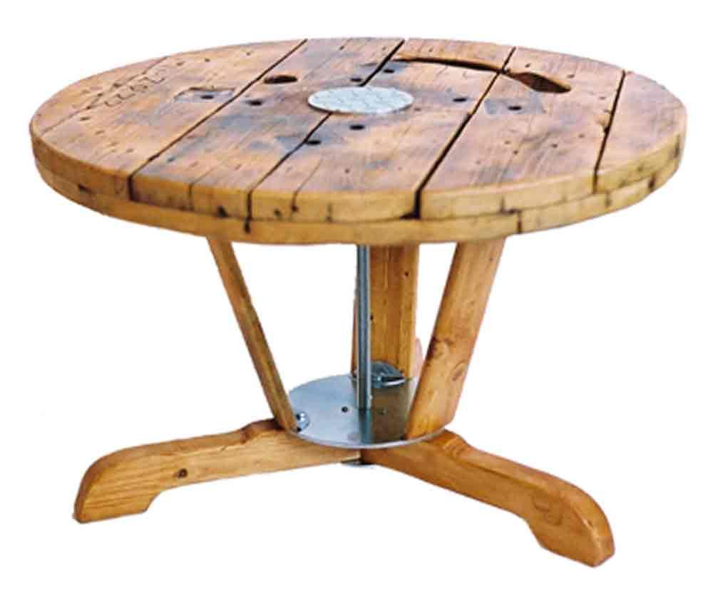 a coffee table for use as interior and garden furniture with the