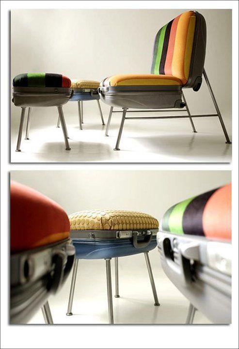Segunda vida para las maletas /Second Life for luggage. by Spadeobjetos #recycle design