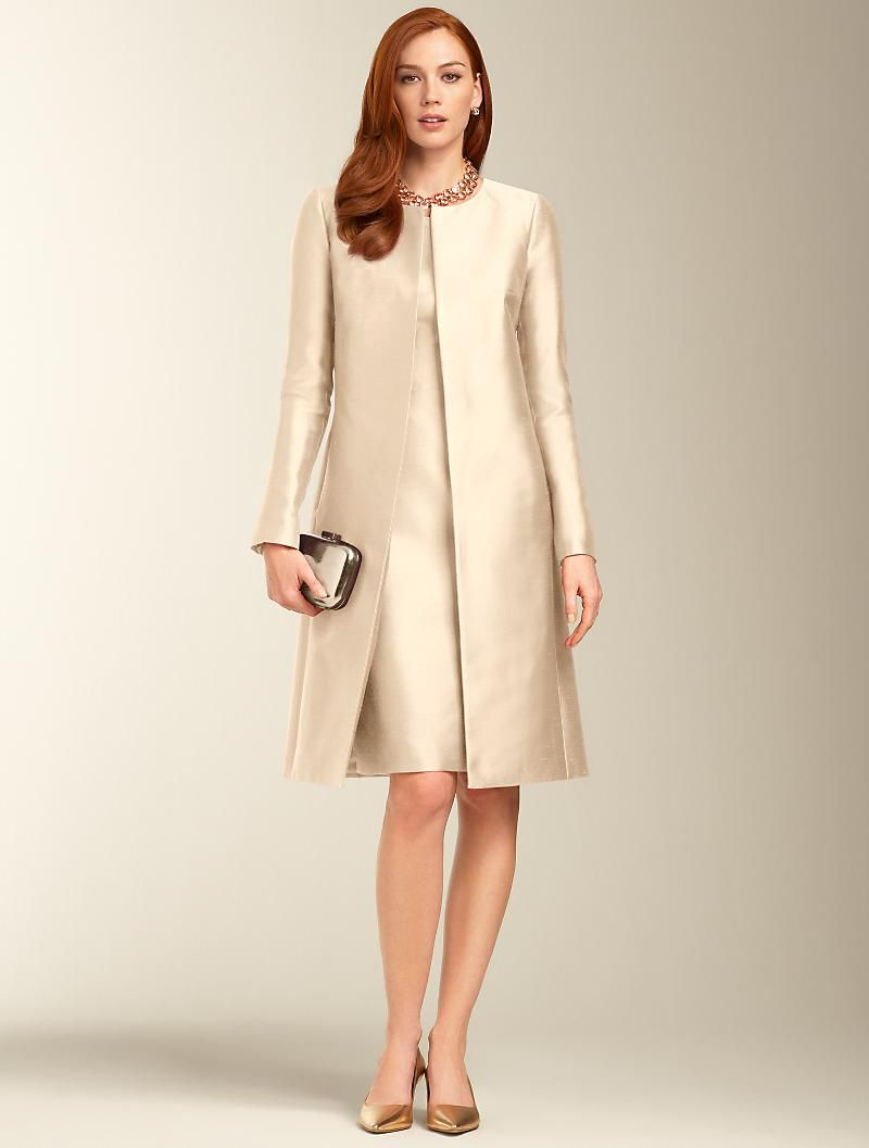 Talbots Doupioni No Close Duster Events And Occasions Misses Cute Formal Dresses Clothes For Women Stylish Dresses For Girls [ 1057 x 800 Pixel ]