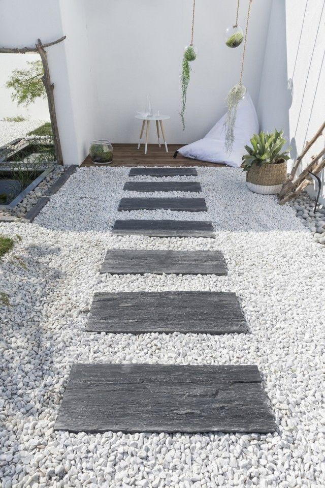 Une allée en gravier pour le jardin | Diseño de jardin en ...