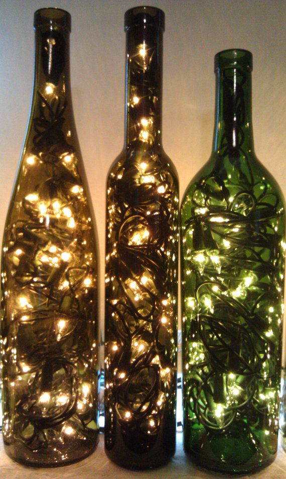 Recycled Wine Bottle Light - Wine Gift - Christmas Wine Gift - Wine Decor - Wine  Bottle Lamp - Gift for Her - Gift for Mom - Lamps - Xmas