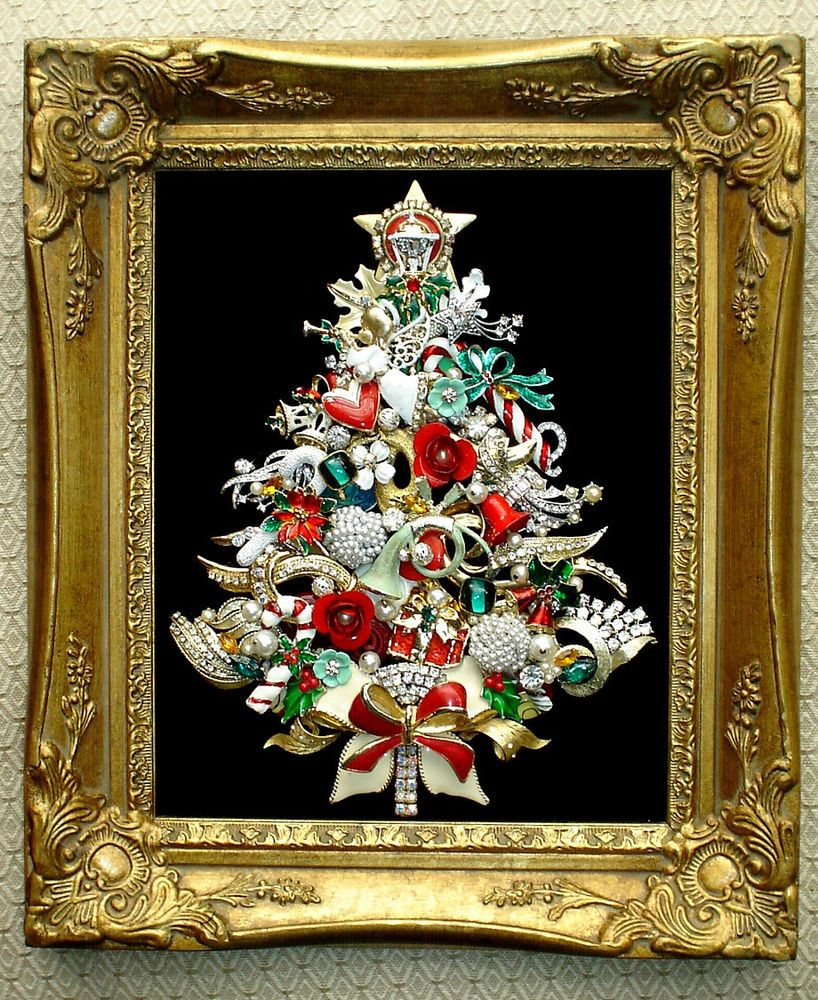 Where To Buy A Christmas Tree Near Me: Details About VINTAGE JEWELRY CHRISTMAS TREE RHINESTONE