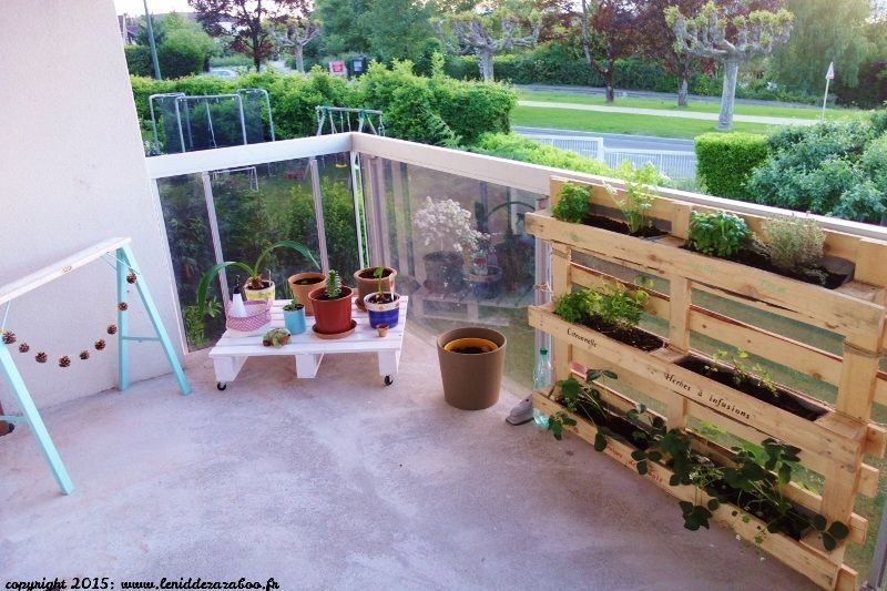 Palette potager upcycling diy pinterest deco for Amenagement jardin palette
