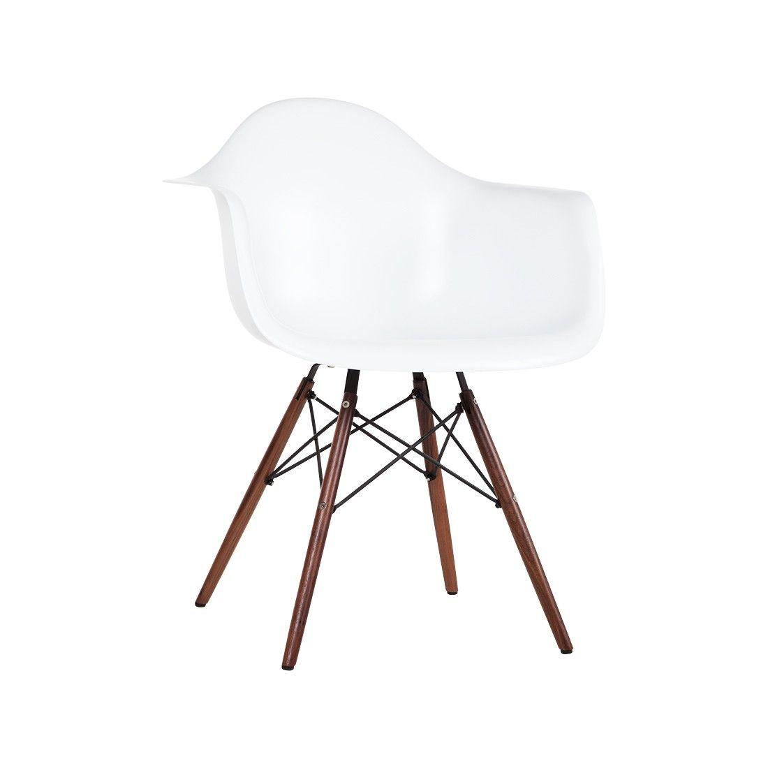 Exceptionnel DAW Fiberglass Eiffel Armchair   Matt White