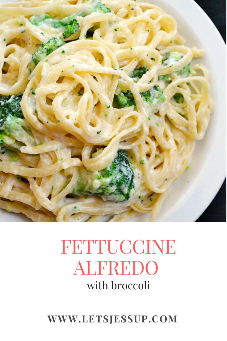 The most delicious Fettuccine Alfredo with broccoli in