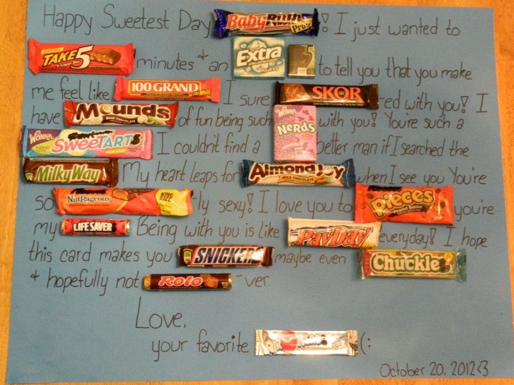 Sweetest Day Gift Idea Surprise Gifts For Him Diy Crafts For Gifts Sweetest Day