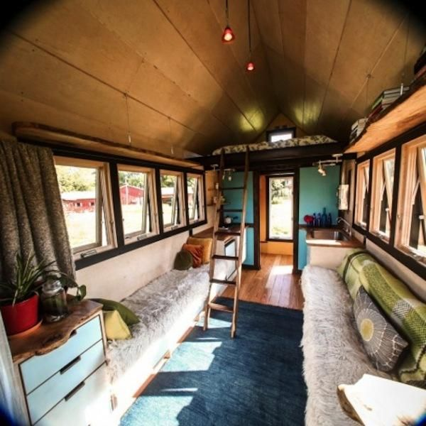 Tiny Houses On Wheels Interior | Small House Design Mobile Homes Wheels  Pocket Shelter 4