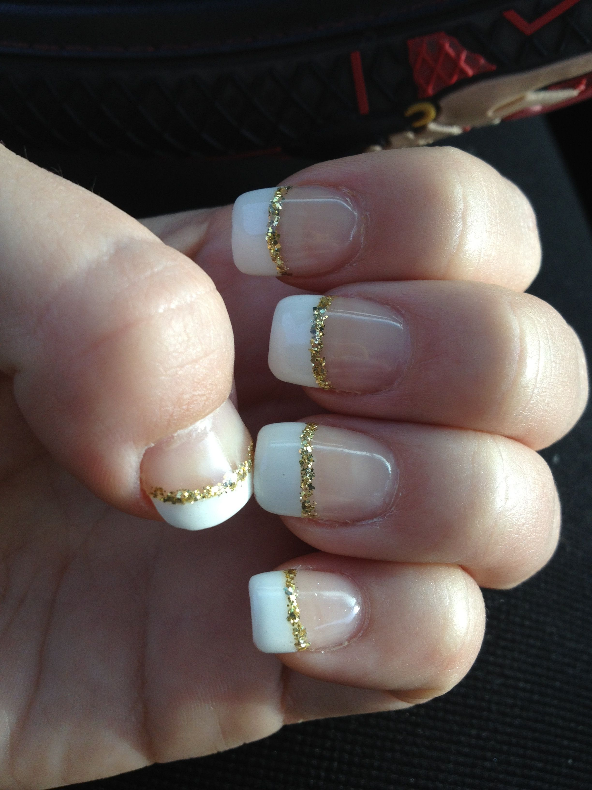 Gold and white nails ⚡ | Prom Nail Ideas | Pinterest ...