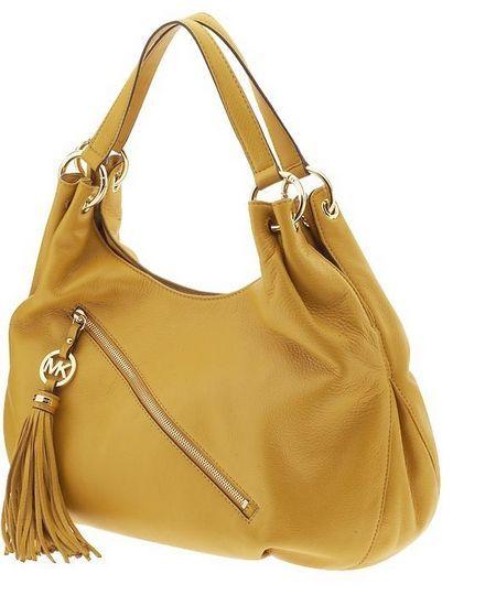 0a726b219bf9 Michael Kors Charm Tassel Large Shoulder Tote Marigold | Fashion ...