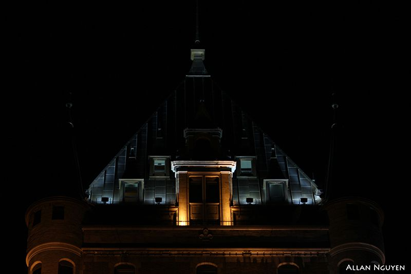 A roof of the Château Frontenac, Quebec city.  Photograph by Allan Nguyen