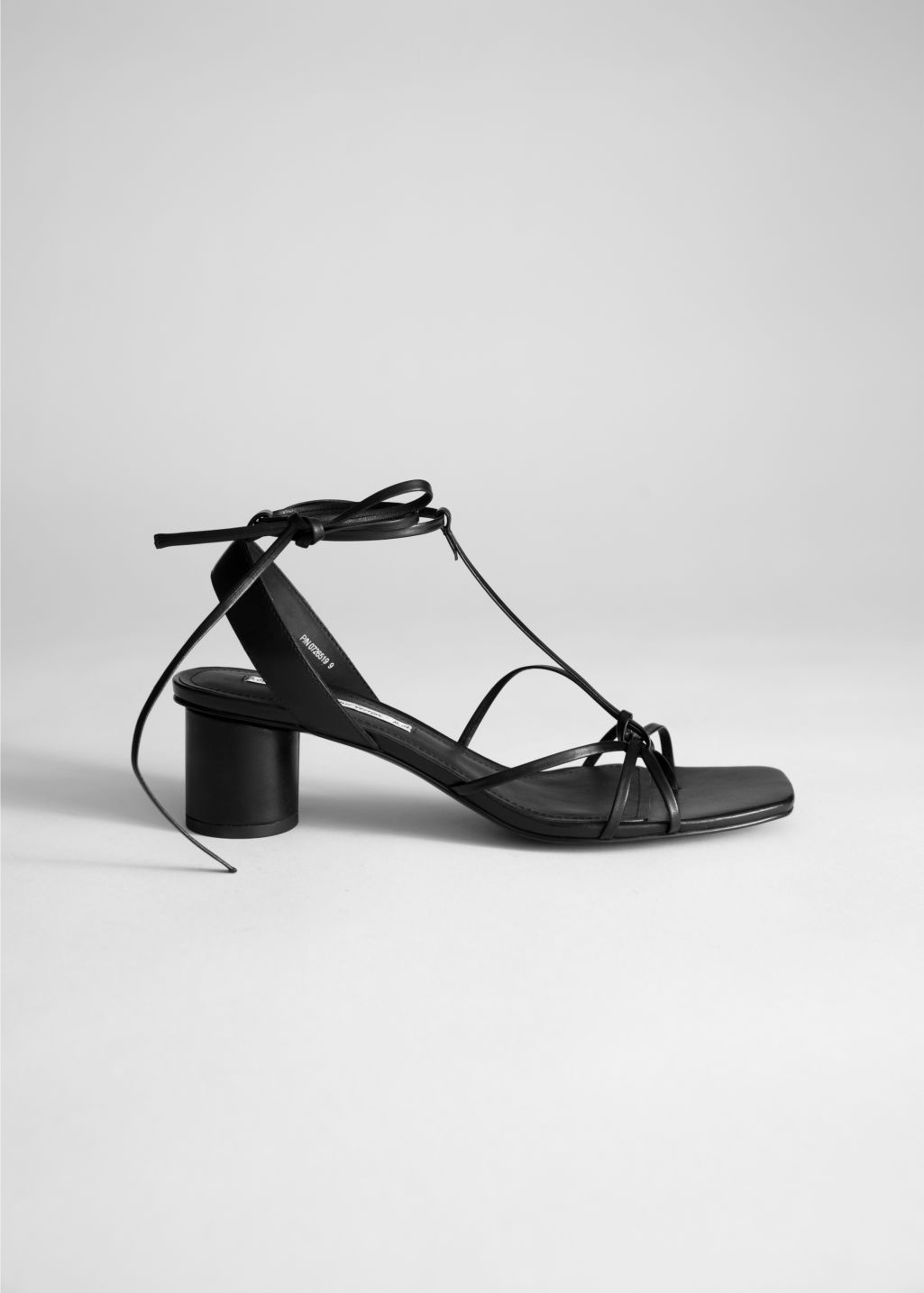 Square Toe Lace Up Heeled Sandals Black Heeled Sandals Other Stories Strappy Sandals Heels Sandals Heels High Heel Sandals