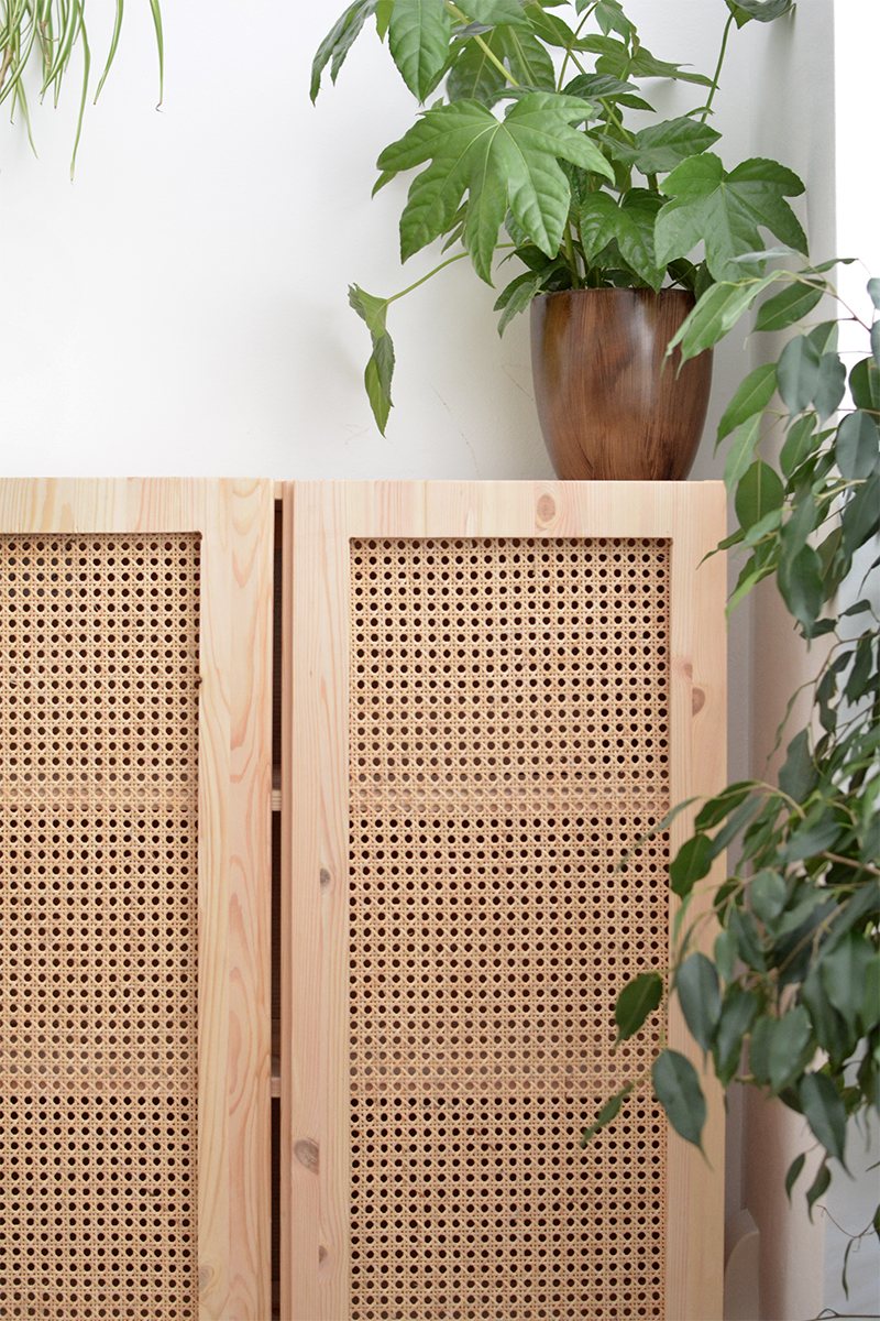DIY cane cabinet | IKEA hack in 2020 | Ikea diy, Furniture