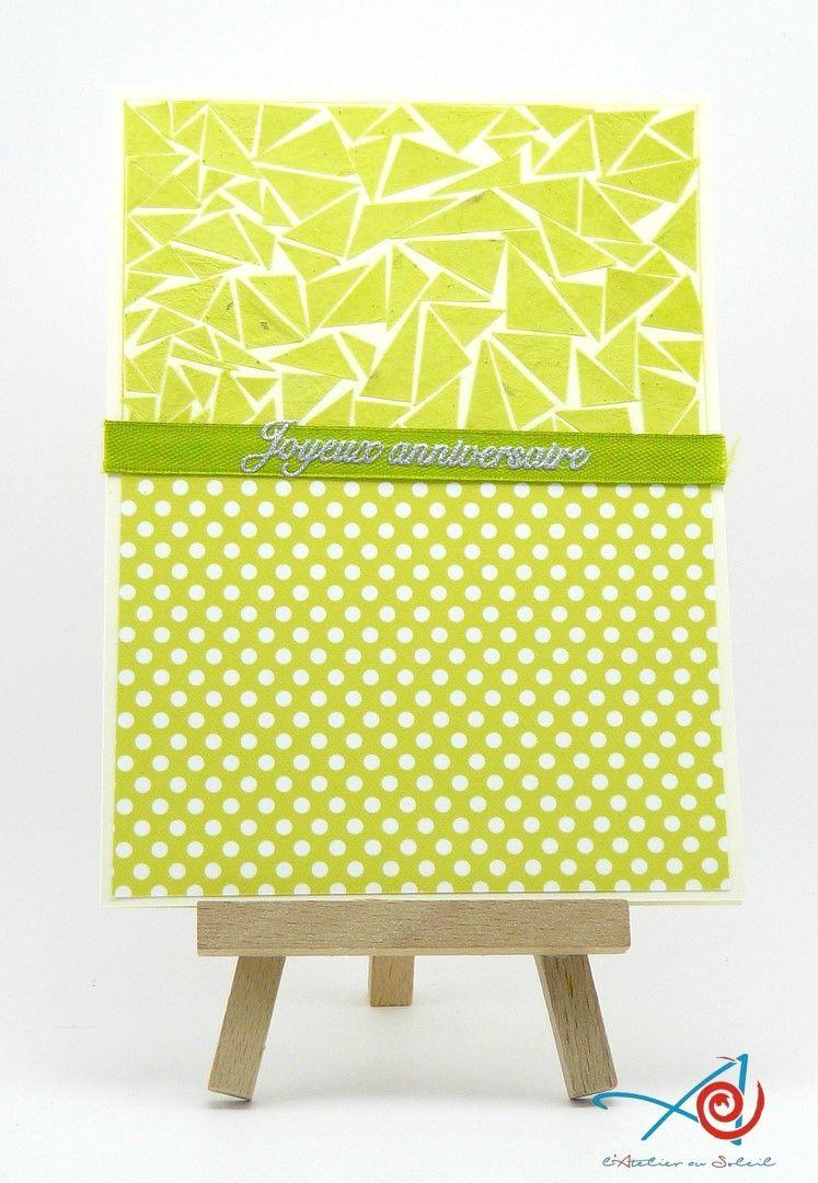 Carte danniversaire vert anis anise green birthday card