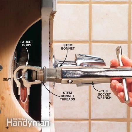 How To Fix A Leaking Bathtub Faucet Home Diy Tub Faucet Faucet