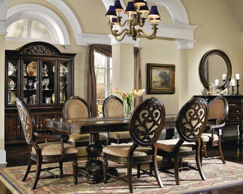 Gorgeous Picture Of Our Grand Regency Dining Room Furniture As A Whole Set Regency Dining Room Tuscan Dining Rooms Dining Design