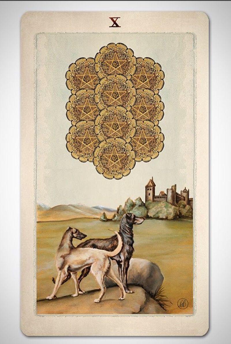 Pagan otherworlds tarot deck of cards by uusi ten of